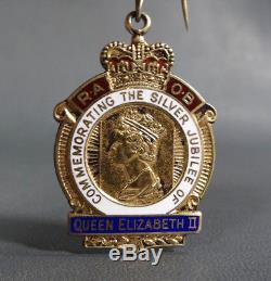 1977 Queen Elizabeth II Silver Jubilee RAOB Gold Sterling Masonic Order Medal