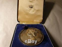 1977 RARE GB SILVER medal Washington jubilee queen Elizabeth II 60mm