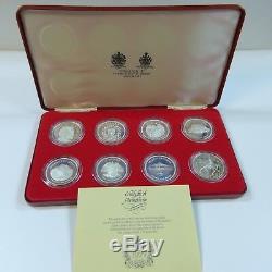 1977 Silver Queen Elizabeth II Silver Jubilee Crown Proof 8 Coin Set Spink & Son