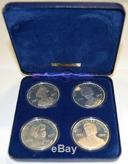 1977-queen Elizabeth II Silver Jubilee-sterling Silver Medal Set