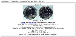 1978 CANADA UK Queen Elizabeth II Commonwealth Games Proof Silver $1 Coin i82305