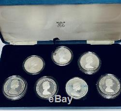 1980 H. M. Queen Elizabeth The Queen Mother 80th Birthday Commem Silver Proof Set