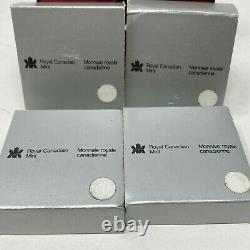 1982 1983 Royal Canadian Centennial 1 Dollar Queen Elizabeth II Proof Coins