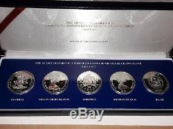 1983 QUEEN ELIZABETH II 30th ANNIVERSARY SILVER COIN PROOF SET RARE withbox & COA