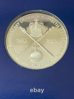 1983 Queen Elizabeth II 30th Anniversary Silver Crown Proof Set, withCOA and Case