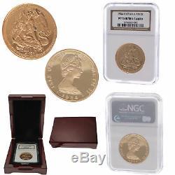 1984 Present Isle Man Angel Queen Elizabeth Gold Coin Ultra Cameo NGC 1oz PF 70