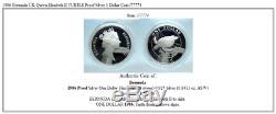 1986 Bermuda UK Queen Elizabeth II TURTLE Proof Silver 1 Dollar Coin i77774
