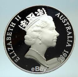 1986 SOUTH AUSTRALIA UK Queen Elizabeth II Silver 10 Dollar Coin i76629