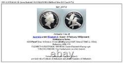 1989 AUSTRALIA UK Queen Elizabeth II KOOKABURRA Old Proof Silver $10 Coin i84712