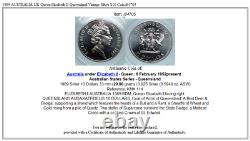 1989 AUSTRALIA UK Queen Elizabeth II Queensland Vintage Silver $10 Coin i84705