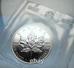 1989 CANADA Authentic Silver 1oz Coin UK Queen Elizabeth II & MAPLE LEAF i70907