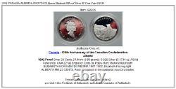 1992 CANADA ALBERTA PROVINCE Queen Elizabeth II Proof Silver 25 Cent Coin i92834