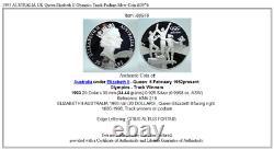 1993 AUSTRALIA UK Queen Elizabeth II Olympics Track Podium Silver Coin i80976