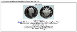 1994 CANADA United Kingdom Queen Elizabeth II Dog Sled Silver Coin i76792