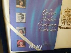 2000 Elizabeth II set of 12 silver proof crowns Queen mother