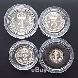 2000 Queen Elizabeth II 4 Coin Silver Maundy Set Boxed