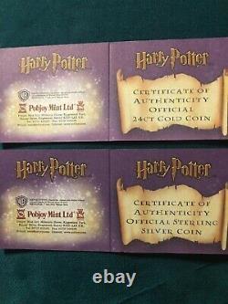2001 Proof 24k Gold & Silver Coin Harry Potter Queen Elizabeth