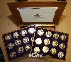 2002 & 2003 Queen Elizabeth II Golden Jubilee Silver Proof Collection