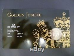 2002 50th Anniversary Accession of Queen Elizabeth II 50c Silver Coin