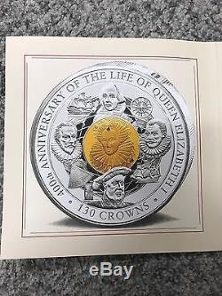 2003 Isle of Man 4 Kilo Silver Queen Elizabeth I Coin