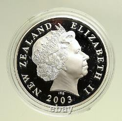 2003 NEW ZEALAND Queen Elizabeth II LORD of THE RINGS Silver Dollar Coin i95115