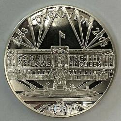 2003 Queen Elizabeth I Gibraltar Coronation Silver Five Crowns