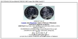 2004 CANADA UK Queen Elizabeth II FRENCH SHIP Genuine Silver Dollar Coin i82311