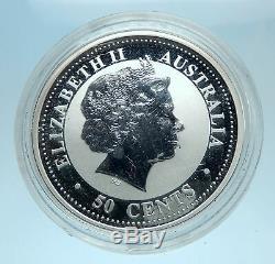 2006 AUSTRALIA UK Queen Elizabeth II Chinese Zodiac WOLF Silver 50 Coin i77795