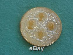 2006 Alderney Gilt Silver 10 Pounds Queen Elizabeth 80th Birthday