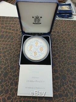 2006 Alderney Queen Elizabeth 80th Birthday Silver Proof Ten Pound Coin Cased