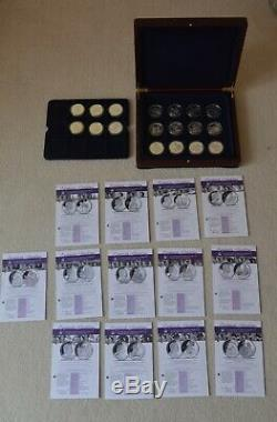 2006 Queen Elizabeth II 80th Birthday Silver proof Collection 18 Coin + Box