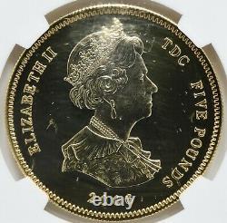 2006 Tristan da Cunha Five Pounds Queen Elizabeth II 80th Anniv. Silver Coin