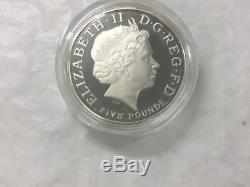 2008 Queen Elizabeth 1st £5 Piedfort Silver Proof Coin mintage no. 0294/2000