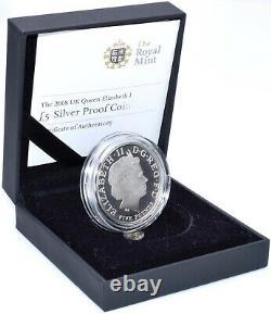 2008 Silver Proof Queen Elizabeth I £5 Coin BOX + COA Royal Mint