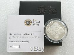 2008 UK Queen Elizabeth I £5 Piedfort Silver Proof Coin RARE