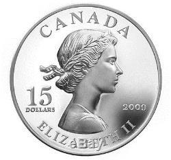 2009 CANADA VIGNETTE SILVER QUEEN ELIZABETH II ROYALTY