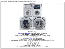 2011 CANADA Queen Elizabeth II Maple Leaf Silver $10 Coin Specimen NGC i86005