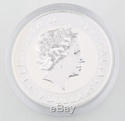 2012 Australian Kookaburra 10 oz. 999 Silver $1 BU Coin Queen Elizabeth II
