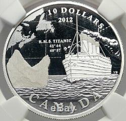 2012 CANADA Queen Elizabeth II SHIP RMS TITANIC Proof Silver $10 NGC Coin i82959