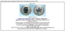 2012 CANADA UK Queen Elizabeth II MAPLE LEAF 1 OZ Genuine Silver $5 Coin i77551