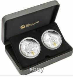 2012 QUEEN ELIZABETH DIAMOND JUBILEE TWO Coin Silver Proof Set