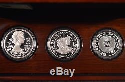 2012 Queen Elizabeth II Diamond Jubilee 3 Coin Silver Proof Set Royal Mint