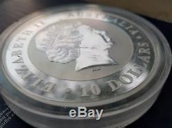 2013 10 oz 999 Silver Australian Kookaburra $10 Dollars Queen Elizabeth II