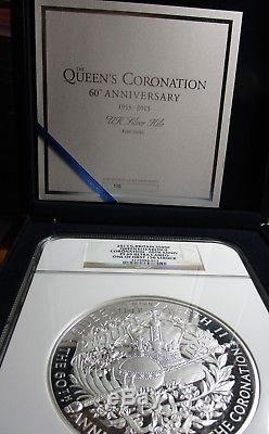 2013 G Britain 1 Kilo Queen Elizabeth Coronation 60 yrs Anniv PF 69 First Strike