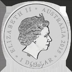 2015 $1 Au-Queen Elizabeth II- Longest Reigning Monarch-1 oz Silver Coin PM
