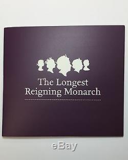 2015 5oz UK Queen Elizabeth II Longest Reigning Monarch NGC PF69 UC. 999 Coin