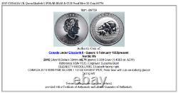 2015 CANADA UK Queen Elizabeth II POLAR BEAR & CUB Proof Silver $8 Coin i86756