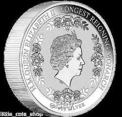 2015 H. M. QUEEN ELIZABETH II LONGEST REIGNING MONARCH 1oz Silver Proof