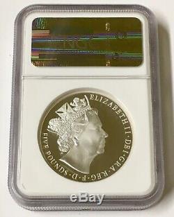 2015 Piedfort Great Britain 5 Pound Queen Elizabeth Ii. 1952 2015. Ngc Pf70 Uc