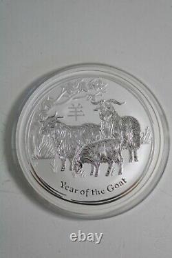 2015 Queen Elizabeth 10oz 999 Silver Year of the Goat $10 Australia Coin